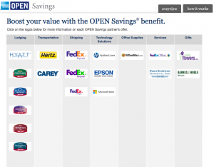 Amex OPEN Savings offers significant discounts at a lot of partner merchants.