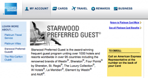 One of the Amex Platinum perks is automatic SPG Gold status.