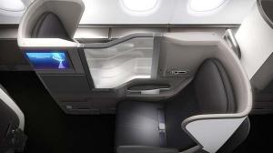 Business class seats aboard BA's new A380.