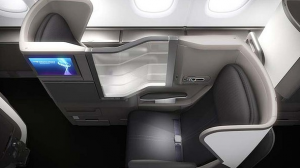 Business class seats aboard BA's new A380.