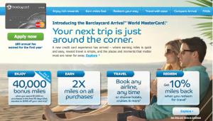 Barclaycard Arrival Offer