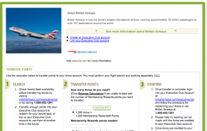 A recent 30% bonus to British Airways