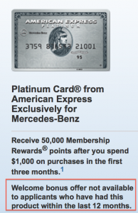 Amex is very up front about what you need to qualify for a Welcome Bonus (sign-up bonus)