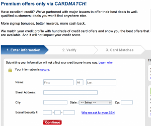 The CreditCards.com Card Match Tool often has exclusive offers not available anywhere else