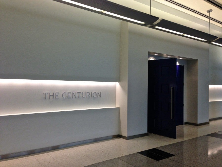 The entrance to the lounge.