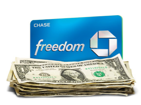 The Chase Freedom card will earn you