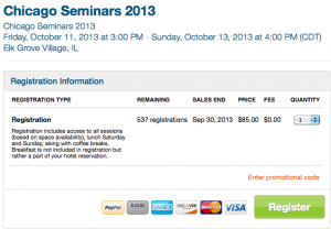 Chicago Seminars Reg 2013