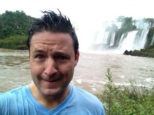 After my shower in the falls.