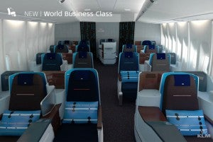 A first look at KLM's new business class.