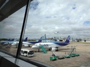 LAN and Aerolineas planes at AEP.