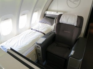 67,500 Ultimate Rewards points transferred to United and I got the new Lufthansa 747 upper deck First Class on Frankfurt-Miami.