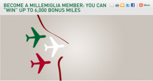Millemiglia sign up