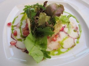 Try the octopus carpaccio at Rui Paul.