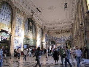 Take a quick stroll through the train station to admire its tile work.