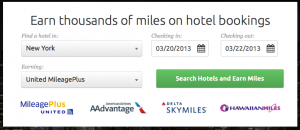 Earn thousands of bonus airline miles for hotel bookings.