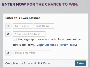 500 Free Virgin America Elevate points for liking them on Facebook