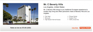 Pay for stays at more moderately priced properties like Mr. C Beverly Hills, then redeem at expensive hotels.