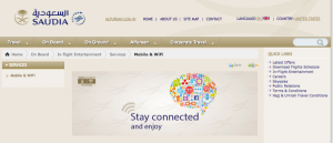 Saudi Arabian Airlines offers WiFi on all its A330's.