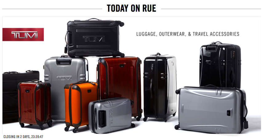 Tumi Luggage Sale on RueLaLa.com Today – The Points Guy