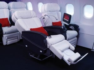 Virgin America's First Class seats.