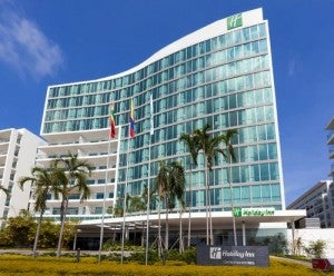 Exterior of the Holiday Inn Cartagena Morros.