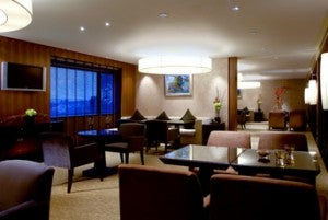 Executive Club Lounge at the Sheraton Grande Taipei Hotel.
