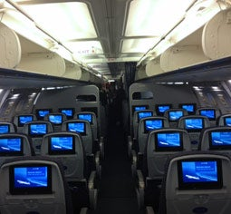 Here's what the new economy cabin looks like.