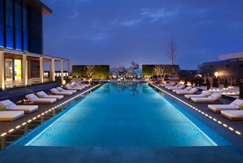 Take A Tip In The 25 Meter WET Swimming Pool At W Taipei