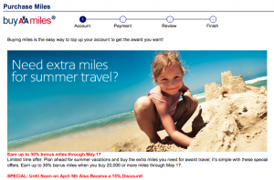 AA Buy Miles Bonus Discount