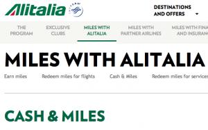 Alitalia Cash Miles