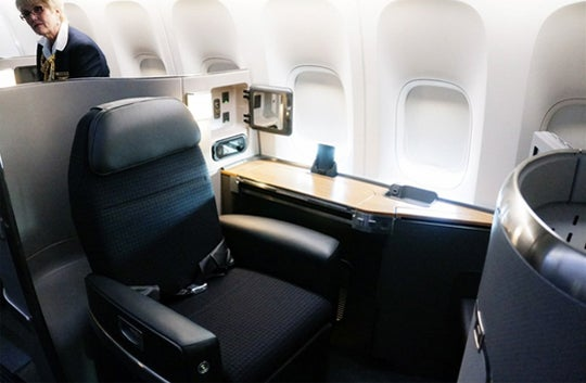 Boeing 777 First Class American Airlines