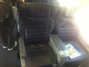 My Business class seat