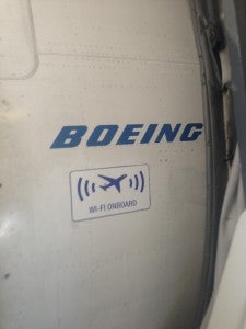The aircraft is equipped with Gogo® Inflight Internet