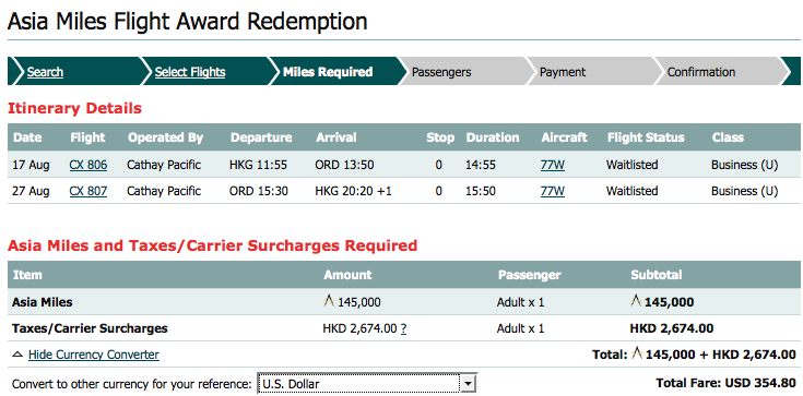 Insider tips on asia miles redemptions point hacks.