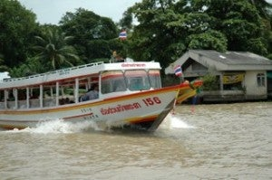 The traffic in Bangkok is notorious, so it's worth using boats that ply the river to get around.