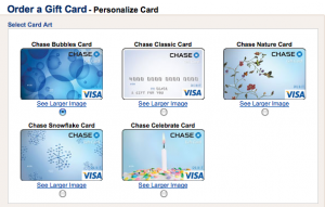 Chase gift cards