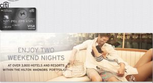 The Citi Hilton HHonors Reserve gives two free weekend nights.