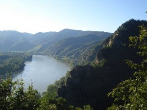 The Danube valley flows for 1,785 miles before meeting with the Black Sea.