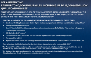 My targeted offer for the Platinum Delta American Express