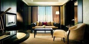 Deluxe King room at the Banyan Tree Bangkok.