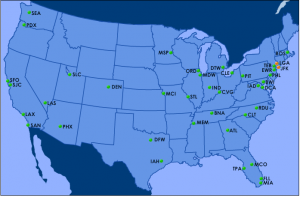 There aren't any air traffic control-related delays at the moment.