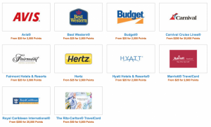 Redeem Freedom points for popular travel giftcards to save on travel expenses