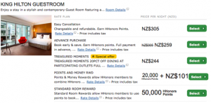 A four-night stay in July at the Hilton Auckland only requires 200,000 points, while an AXON reward would be a whopping 260,000 points! At this property, you should never book an AXON.