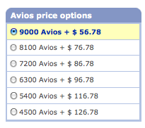 LGA YUL Avios Cash options