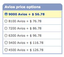 LGA YUL Avios Cash options