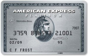 Mercedes-Benz American Express Platinum Card