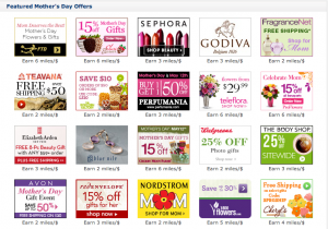 Featured Mother's Day Offers from SkyMiles Shopping.