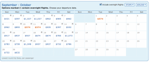 The special fare is available on a few days in September and October as well.