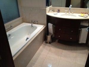 The bathroom was pretty big.