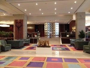 The lobby of the Sheraton Mendoza.